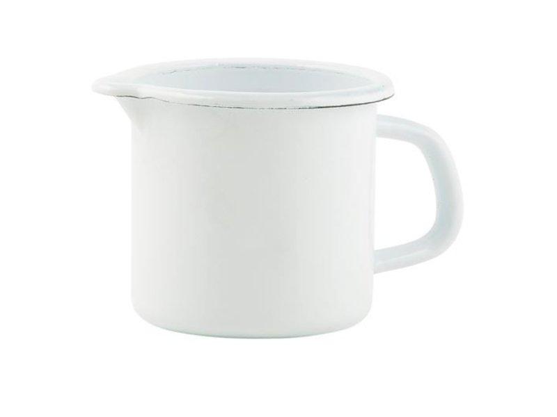 IB LAURSEN Kanne Emaille 0,6 L, weiß
