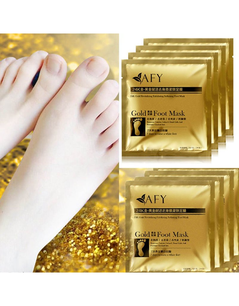 Take care of your feet with a foot mask!