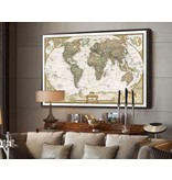 Vintage world map sticker decoration world map wall sticker