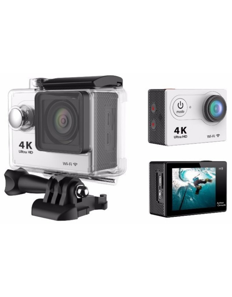 Action camera with wide-angle lens
