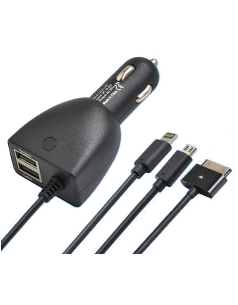 2-in-1 Auto-Ladegerät mit USB-Buchse / Zigarettenaufladeeinheit