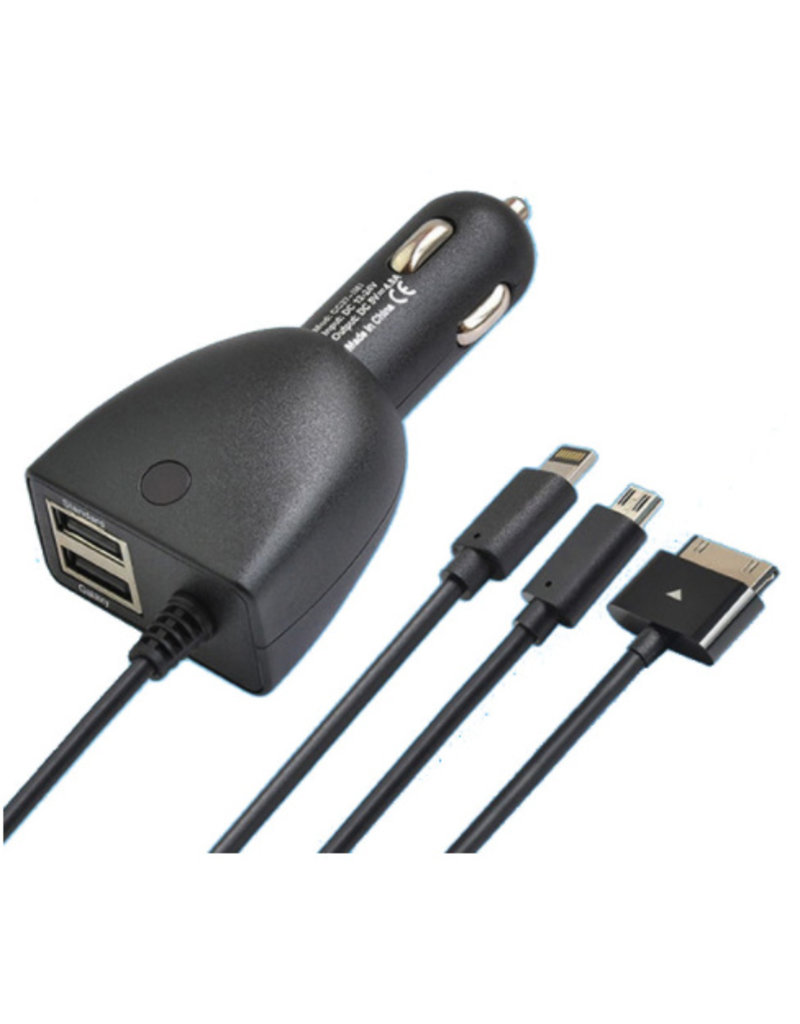 2-in-1 autolader met aansluiting via USB/sigarettenaansteker