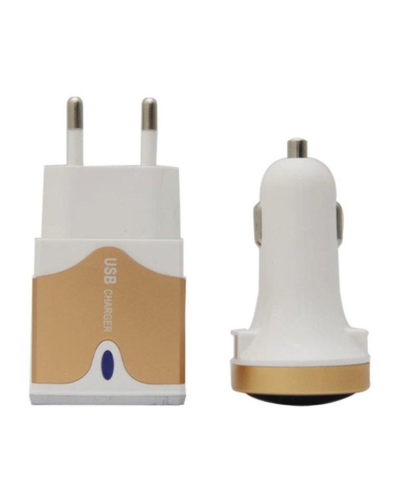3-in-1 USB-Ladegerät für unterwegs
