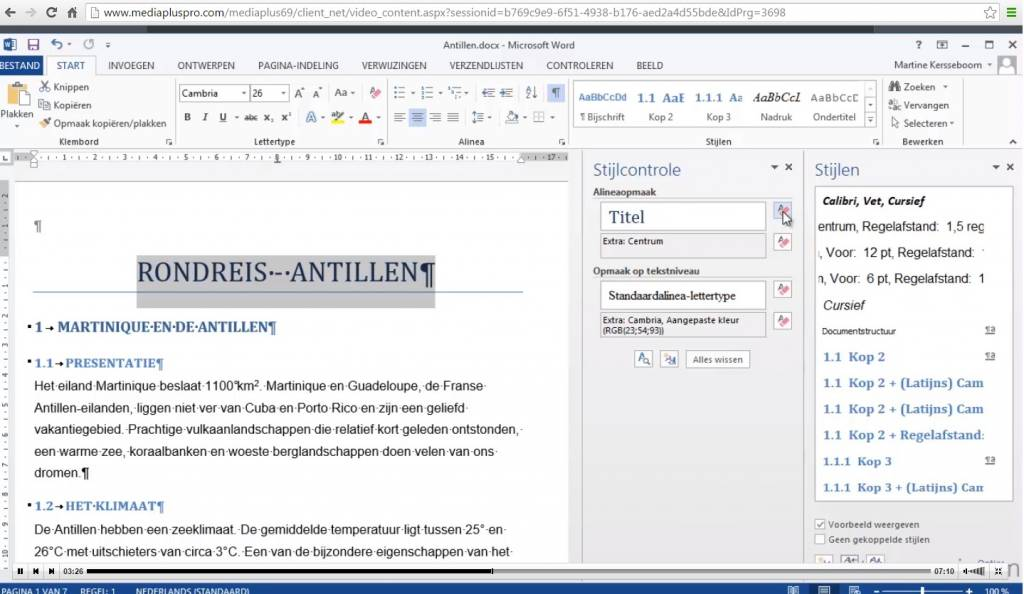 Klik & Weet Microsoft Office Word Video's