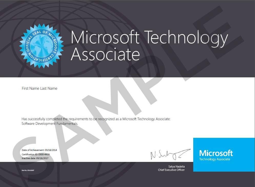 Microsoft  Microsoft Technical Associate (MTA) Examen