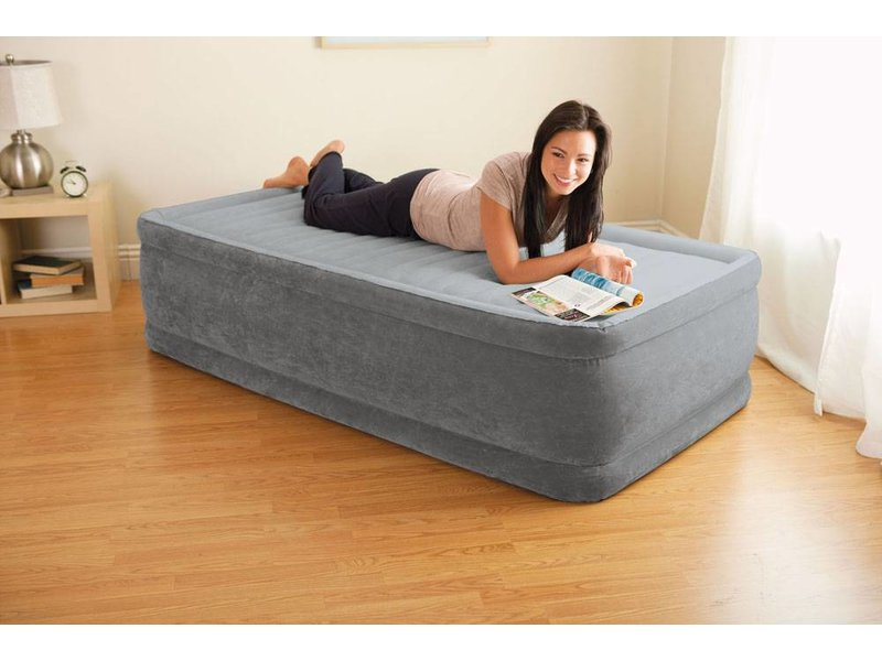 Intex Luchtbed Twin Comfort-Plush Elevated Eenpersoons
