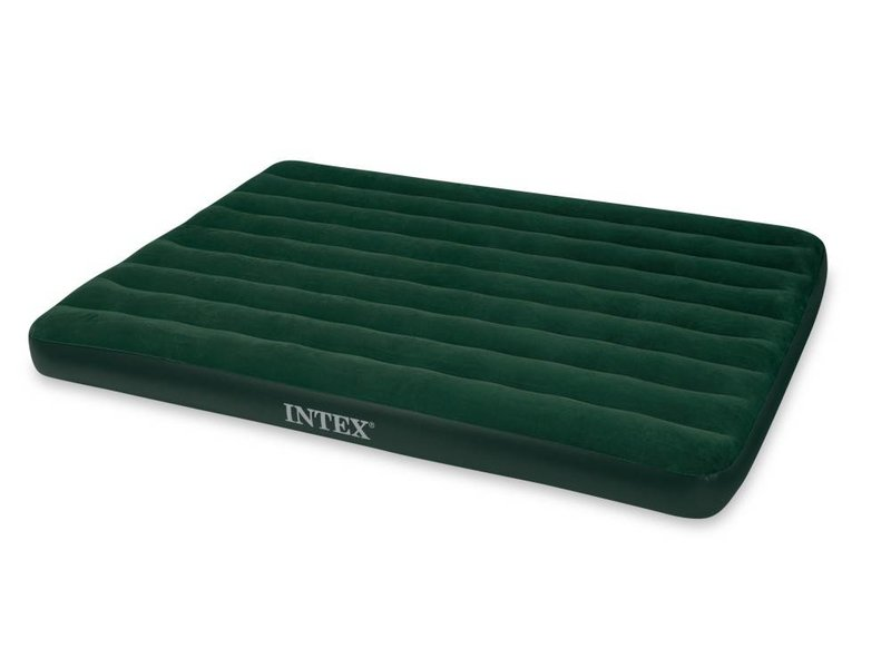 Intex Luchtbed Queen Prestige Downy Tweepersoons (Incl. Batterijpomp)