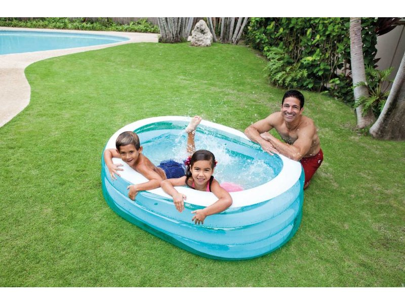 Opblaasbaar zwembad ovaal 3 jaar for Intex zwembad baby