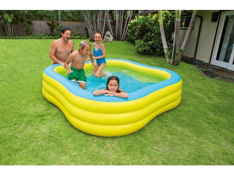 Intex Opblaasbaar Zwembad Familie Vierkant