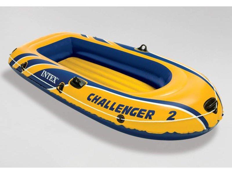 Intex Opblaasboot Challenger 2 Tweepersoons (Incl. Peddels en Pomp)