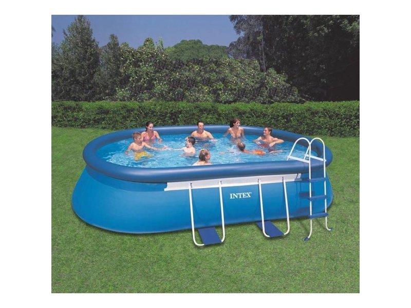 Intex zwembad oval frame 610 x 366 x 122 cm for Intex ovale