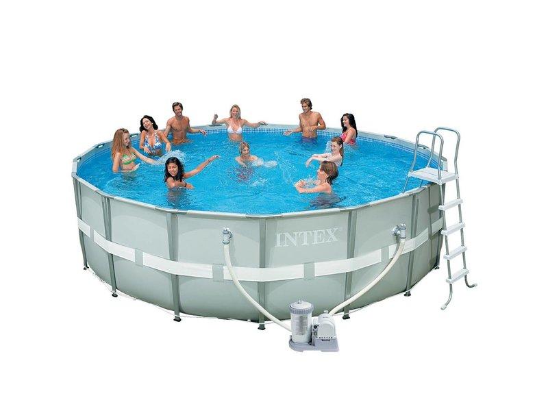 Intex Zwembad Ultra Frame 488 x 122 cm (met zandfilterpomp)