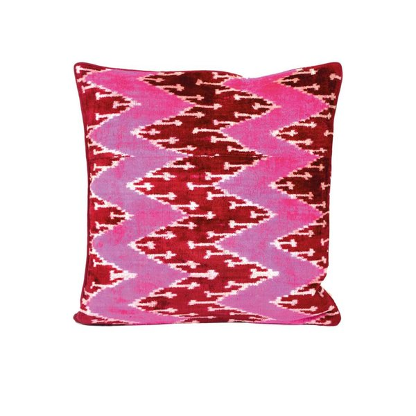 ROUGH RUGS Pink Piranha Pillow