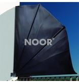 Noor Balkonfächer Balkon Sichtschutz, anthrazit, 140 cm