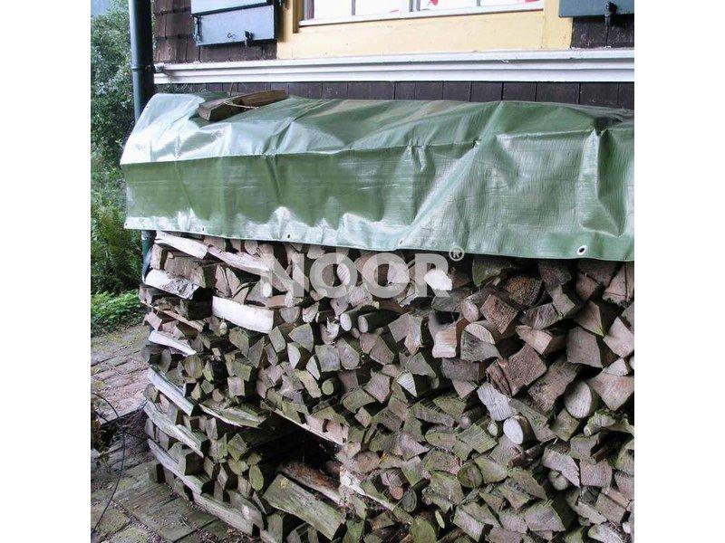 Noor Holz-Gewebe-Abdeckplane, 210 g/m², ca. 1,50 x 6 m, grün