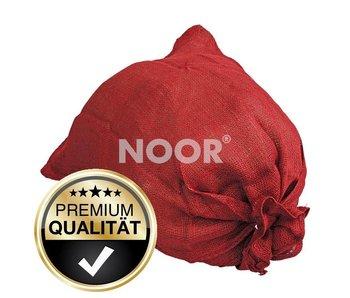 Noor Jutesack rot in zwei Größen