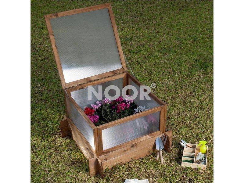 Noor Hochbeet L mit Frühbeethaube,  100 x 100 x 62,5 cm