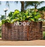 Noor Hochbeet Weide, 100 x 40 x 40 cm + Pflanztasche