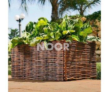 Noor Hochbeet Weide + Pflanztasche