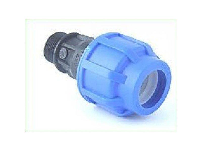 GiB PE Kupplung 25 mm auf 3/4 Zoll Außengewinde