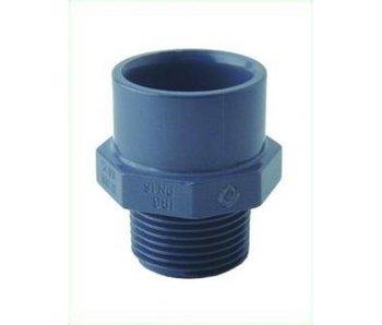 GiB PVC Anschluß. 3/4 Zoll AG, 32 mm
