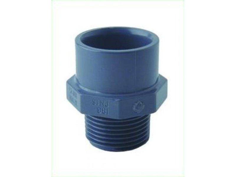 GiB PVC Anschlußverschraubung 3/4 Zoll AG, 32 mm