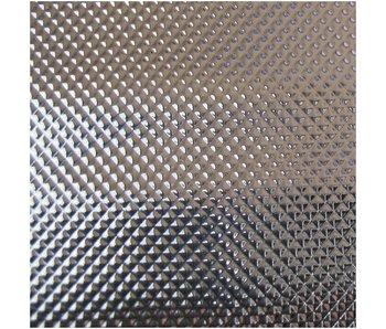 Groflective Reflexionsfolie, lichtdicht, Diamond, silber, Rolle 100 m
