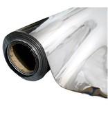 Groflective Reflexionsfolie, lichtdicht, glatt silber, Rolle 50 m x 1,22 m x 0,2 mm