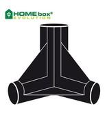 Homebox 3-Wege-Eckverbinder für Evolution 4 Stk.