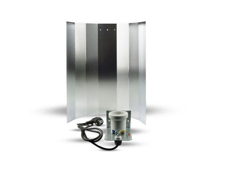 Mithralit-Reflektor für Energiesparlampen, 1,5 m Kabel & Netzstecker