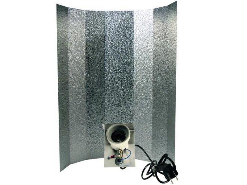 Großer Reflektor für Energiesparlampen