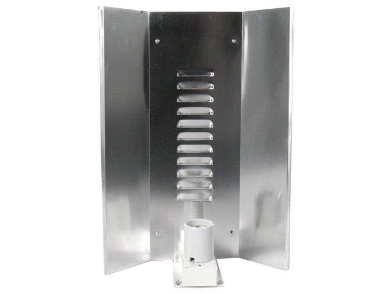 Elektrox Hochglanzreflektor für Energiesparlampen, 3-flächig