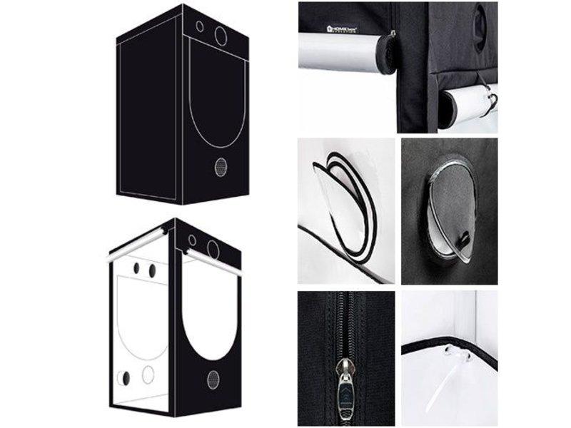 Homebox Evolution Q 120, aufgebaut 120 x 120 x 200 cm