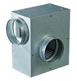 Metall Lüfterkiste 400 m³/h schallgedämmt m. eingebautem Schneckenhaus-Ventilator 115 W