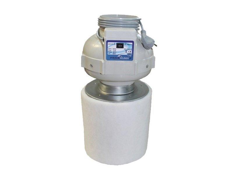 PK Kombo-Kit, PK Rohrventilator 125 Two-Speed, 360 m³/h, PK-Carbon-Aktivkohlefilter