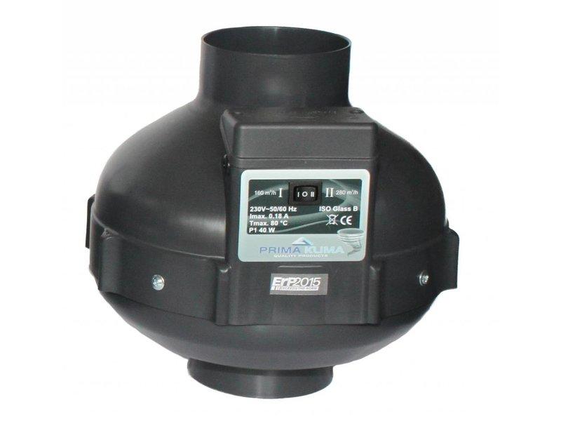 PK Rohrventilator 100, 160/280 m³/h, für 100 mm Rohr Kunststoff unverkabelt