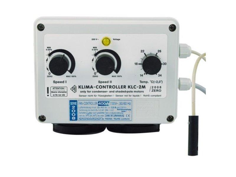 PK Klima-Controller, Drehzahlregler für Temperatur und Minimalgeschwindigkeit, 2 x 600 W