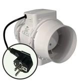 Ventilution Mixed In-Line 220/280 m³/h, für 125 mm Rohr, inkl. Netzkabel mit Schuko-Stecker