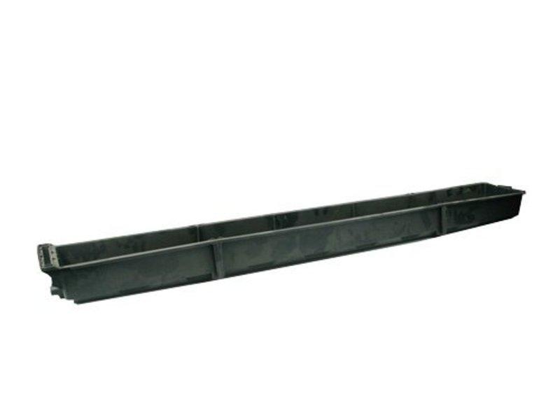 Steinwollkasten Librabak mit Entwässerungsloch, Innenmaße 133 x 15 x 7,5 cm