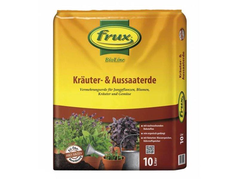 Frux BioLine Kräuter-& Aussaaterde, 10 L