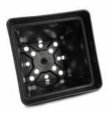 GiB Topf, viereckig, 7 L, schwarz, 20 x 20 x 27 cm