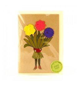 Stadtgärtner Saat-Grußkarte Blumenmädchen
