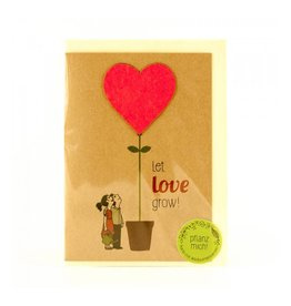 Stadtgärtner Saat-Grußkarte Let Love Grow
