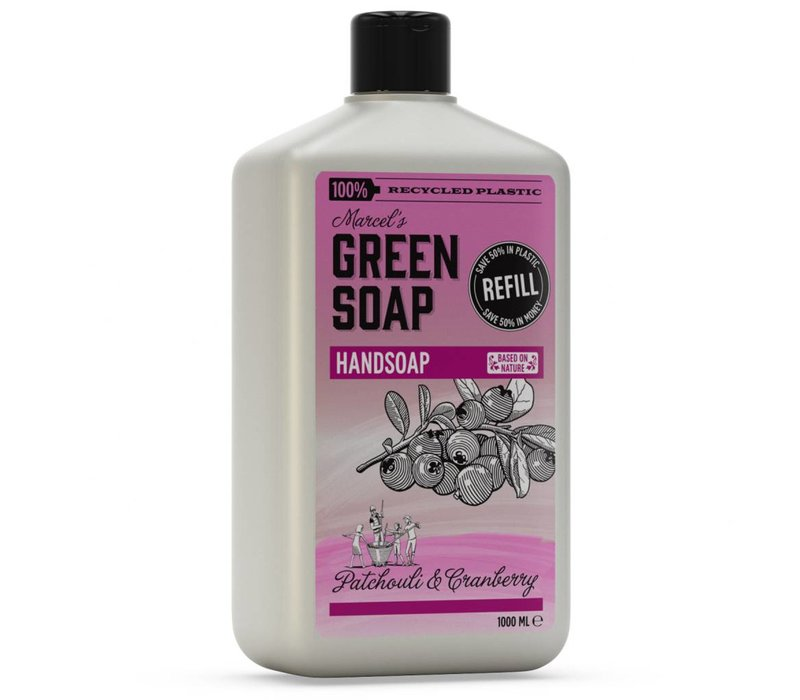 Hand Soap refill Patchouli & Cranberry (1000 ml)
