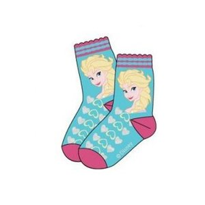 Frozen Baby sokken Blauw met hartjes Elsa