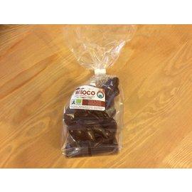 Chocolade paashaas met zak - bruin - lactosevrij