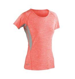 Spiro Fitness Women's Tech Panel Marl T Orange / Grey