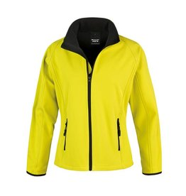 Soft Shell Ladies Yellow Black