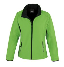 Soft Shell Ladies Green Black
