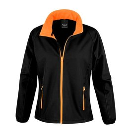 Soft Shell Ladies Black Orange